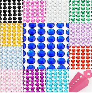 Diamante Me Multi Coloured Self Adhesive Rhinestone Gems size 3mm 176 per sheet