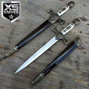 14-034-MEDIEVAL-Dagger-FANTASY-Historical-Short-Sword-BRASS-Decoration-w-Sheath