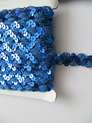 1 MTR Stunning Sequins Wave Paillette Laciness Ribbon Beads Trimming Spangle
