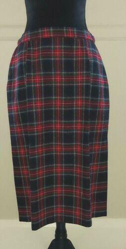 Pendleton Vintage Size 14 Wool Skirt Black Stewart