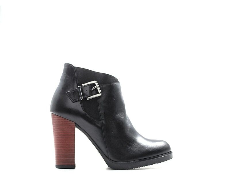 shoes REBECCA VAN DIK Femme black Cuir naturel 8442392-NE-RO