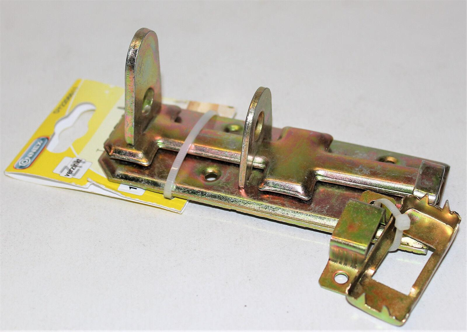 Connex Rollen-Schloßriegel 120x45 mm gelb-verzinkt Türriegel Torriegel Neu 06611