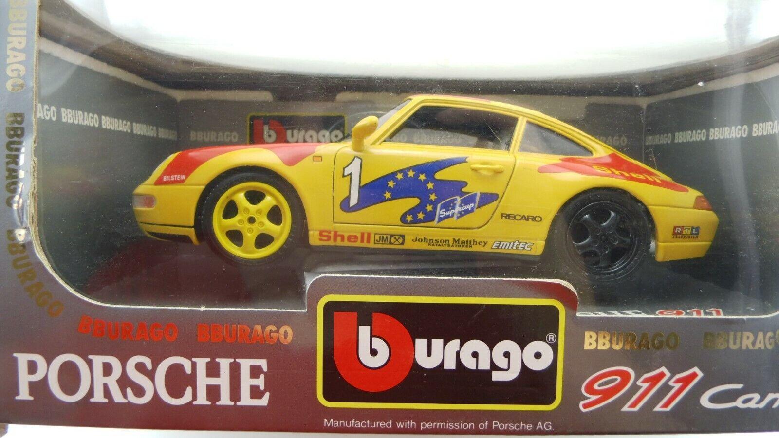 BURAGO  PORSCHE 911 voiturerera GT 3360 1993 Bburago neuf dans sa boîte a942 NEUF  votre satisfaction est notre cible