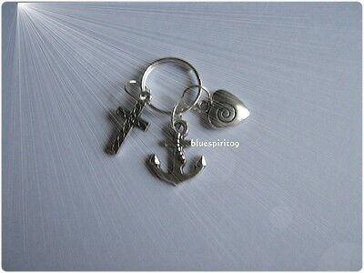 silber Energie pur Anhänger für Schlüssel oder Kette Glaube Hoffnung Liebe