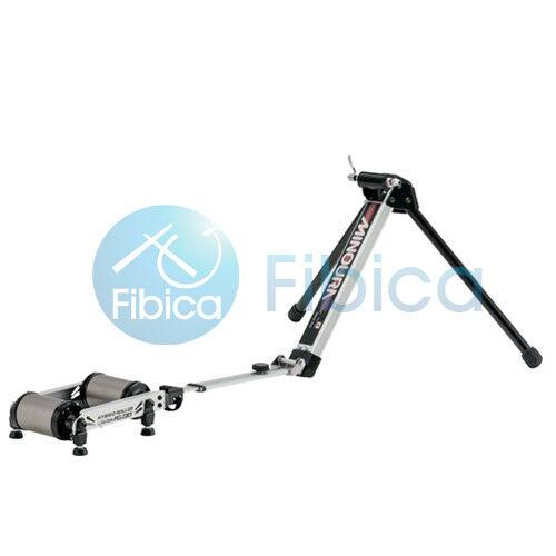 New MINOURA FG220 Hybrid Roller Resistance Unit w  bag Front Fork Mount Trainer