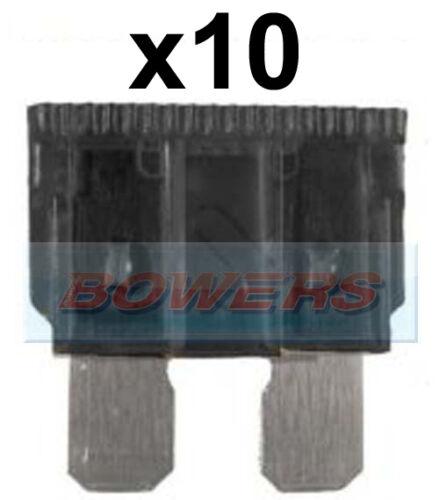 PACK OF 10 12V 24V VOLT 1A AMP GREY STANDARD BLADE FUSES KIT CAR VAN MARINE