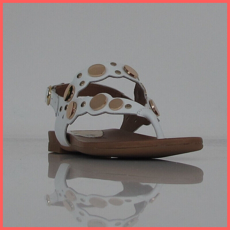 Cafèschwarz Sandalen Frau Flip-Flops IFE121 203 Far. Weiß Gold Sommer 2019