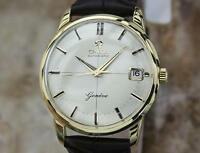 Omega Geneve Rare 1960s Vintage 18K Solid Gold Swiss Made Men's 34MM Watch LV68