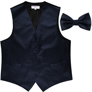 New Men/'s royal blue formal vest Tuxedo Waistcoat/_bowtie /& hankie set wedding