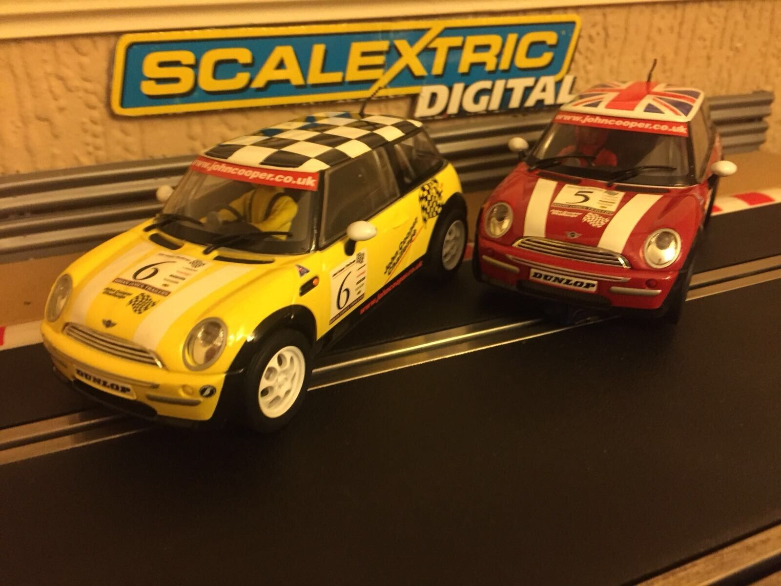 Scalextric Digital John Cooper Minis No5 & No6 Working Lights (Mint Condition)