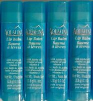 Aquafina Lip Balm With Jojoba Oil Almond Oil & Vitamin E Pure Original Lot Of 4