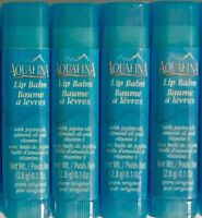 Aquafina Lip Balm With Jojoba Oil Almond Oil & Vitamin E Pure Original Lot Of 4