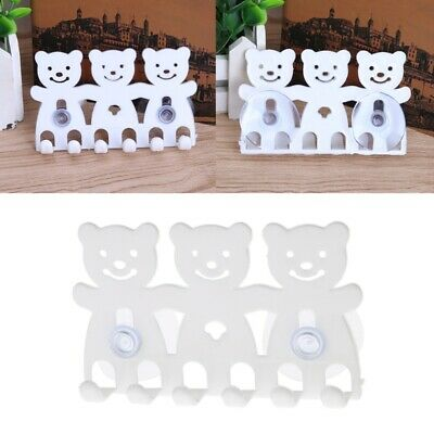 Toothbrush Holder Wall Mounted Suction Cup 5 Position Cute Cartoon Bathroom Sets