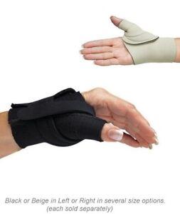 Comfort Cool Thumb Cmc Restriction Splints Black Or Beige Nc795x