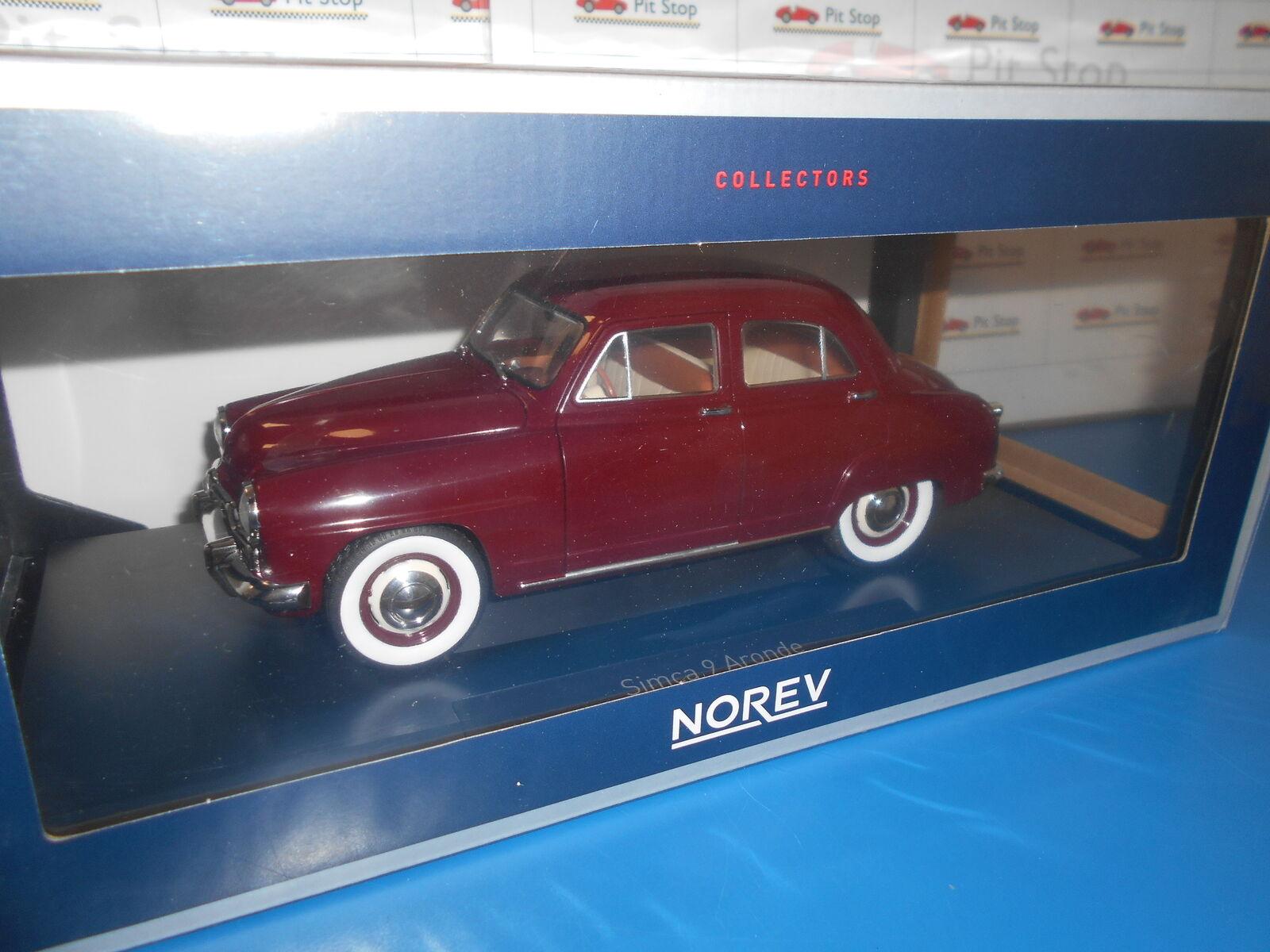 NV185742 by NOREV SIMCA 9 ARONDE AMARANTE 1953 1 18