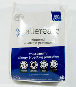 Allerease Zippered Mattress Protector Maximum Allergy Bedbug Protection Sz Twin 22415032100 Ebay