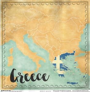 Scrapbook Customs Travel Greece World Collection Cardstock Stickers