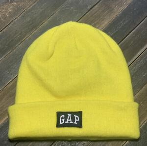 Gap Logo Shooting Star Yellow Winter Hat Beanie One Size Unisex Brand New