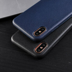 For iPhone X 8 7 6S 5 SE XS Max XR Luxury Ultra Thin Leather TPU Soft Case Cover