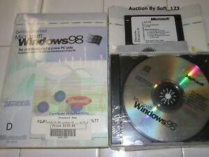 Brillant Microsoft Windows 98 Full Version Anglaise De Système D'exploitation Ms Win = Neuf Scellé =-afficher Le Titre D'origine Luxuriant In Design