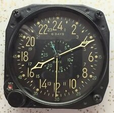 BuAero US Navy Waltham CDIA 15 Jewel Civil Date Aircraft Clock