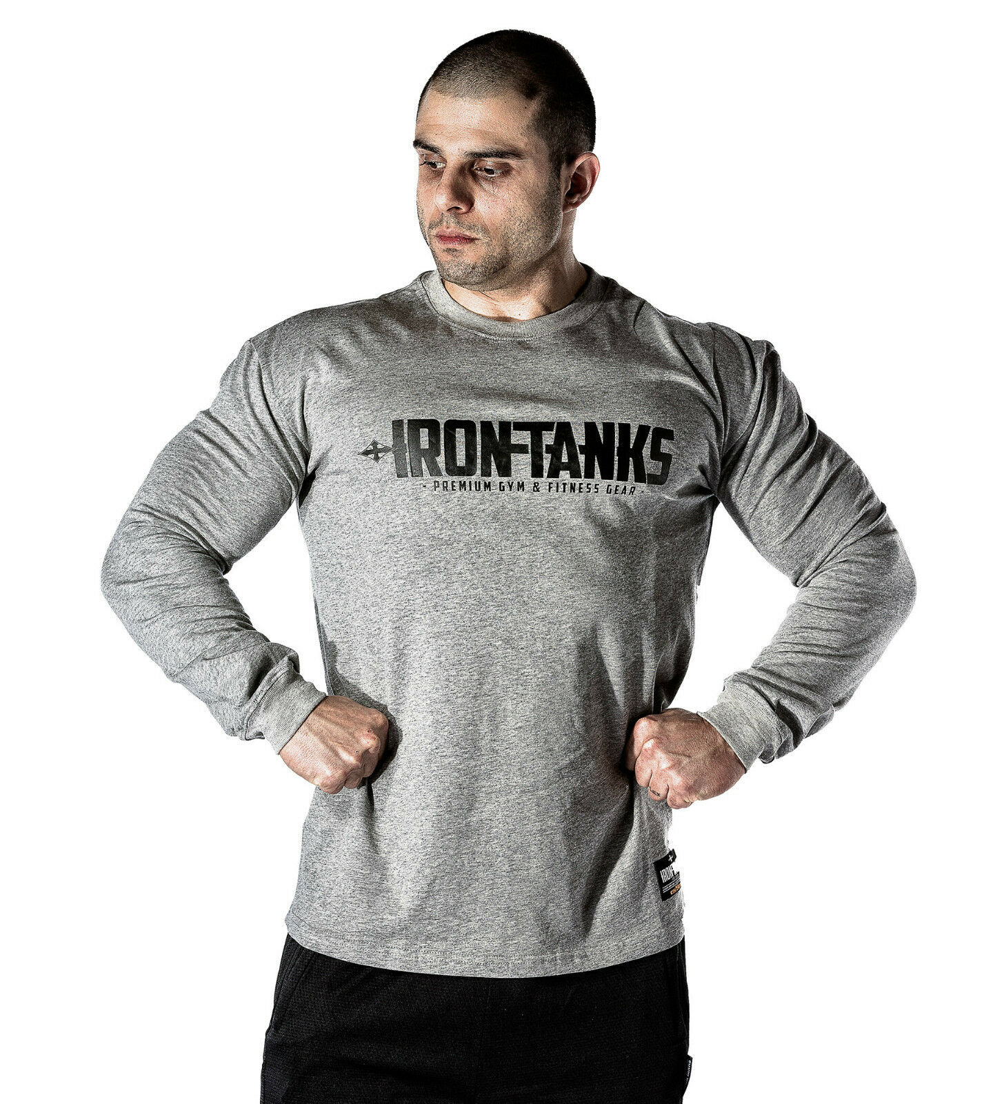 785c46ac MENS PRO BIG RIG GYM BODYBUILDING LONGSLEEVE SWEATER TEE JERSEY S095 ...