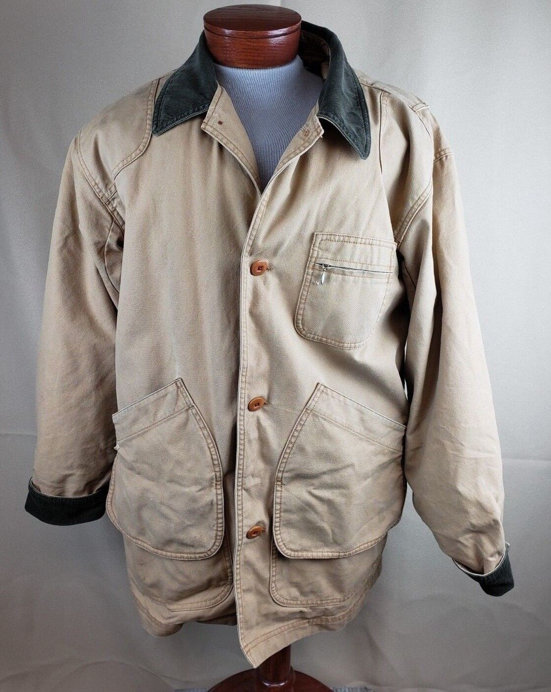 L.L. Bean Removable Liner Barn Field Chore Coat Men's Large