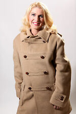 Lodenfrey Vintage Austria Wool Coat Jacket Mens L/XL Loden Frey Camel Color Warm