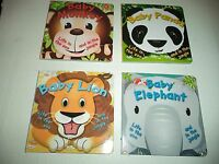 Four Board Books With Baby Animals Life In The Zoo And In The Jungle