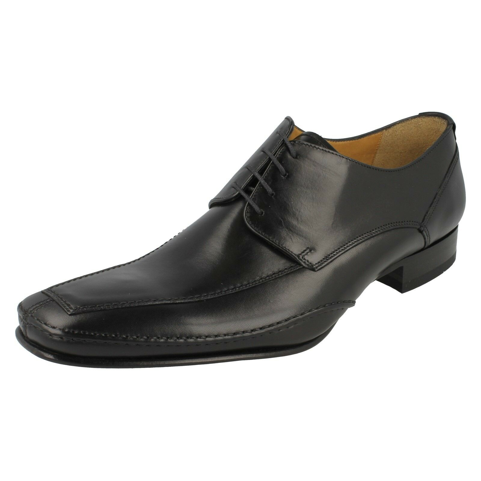 HURST -  Herren LOAKE LACE UP CLASSIC SMART LEATHER BLACK TAN CLASSIC UP FORMAL OFFICE Schuhe 2867f0