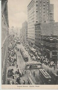 Vintage-Real-Photos-Postcard-of-Second-Ave-Seattle-1907