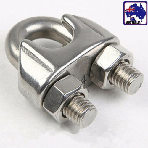 5x M3 M4 Stainless Steel Wire Rope Clip Cable Clamp Fastener Saddle TEBOB 87