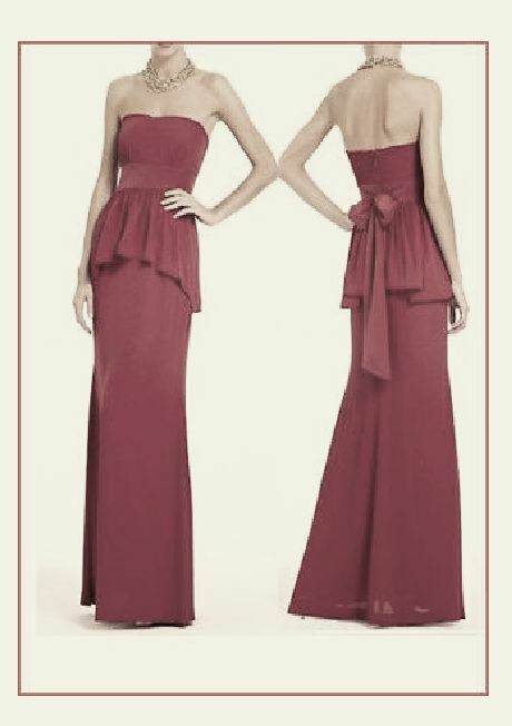 @ NWT BCBG RUELLA LONG DRESS GOWN RED STRAPLESS 0 2 4 6 8 10 12 XS S M L