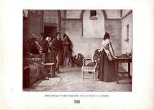 Der Künstler L. Baader Letzter Morgen der Marie Antoinette Histor.Kunstdruck1908