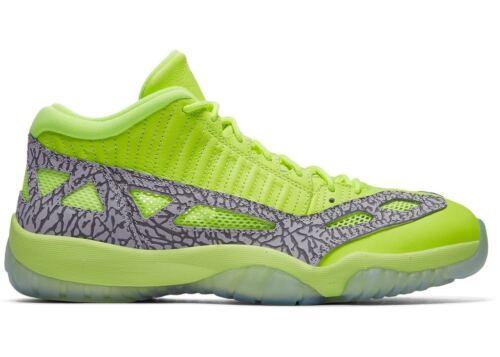"Men/'s Nike Air Jordan Retro 11 Low IE /""Volt//Cement Grey Athletic 919712 700"