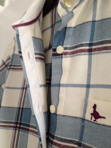 Ladies purple Boyfriend Wills Checked Shirt Jack blue 8 Cream Fit Us Uk 4 size rr4gy
