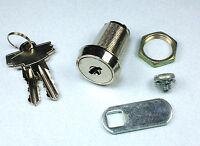 Disc Tumbler Cam Lock With 1 (25.4mm) Cylinder And Chrome Finish Keyed Alike