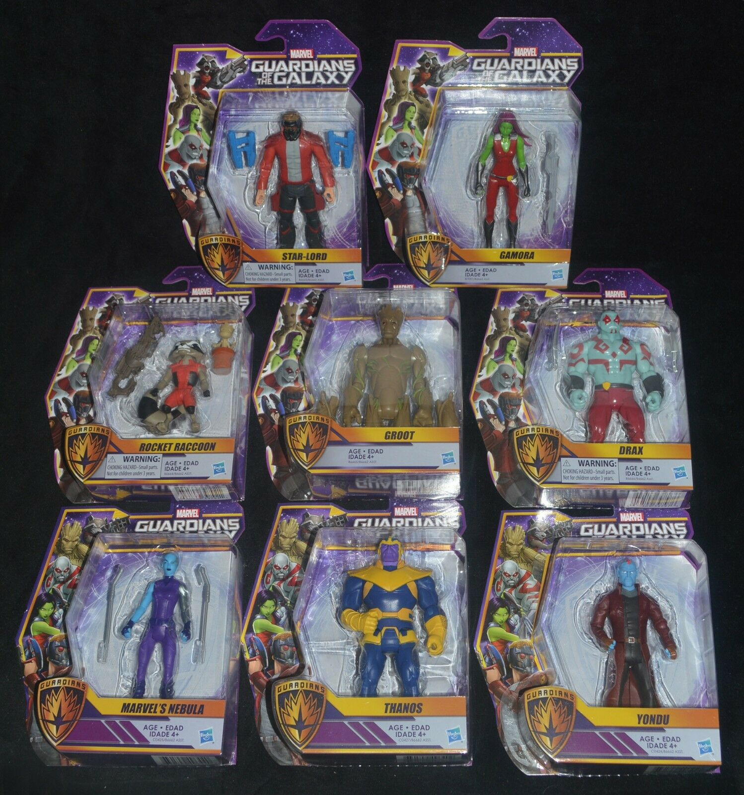 GUARDIANS OF THE GALAXY Animated Set of 8 Marvel Marvel Marvel Action Figures w THANOS MIP 537a26