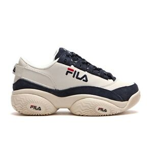 Details about New FILA Men's Concours Low 96 Disruptor Shoes Sneakers-  Beige/Navy(FLFL9A1X05)