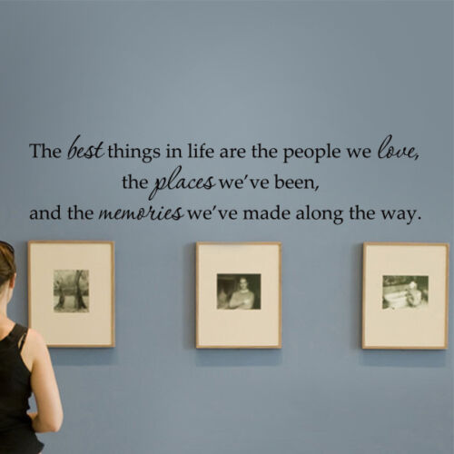 The Best Things in Life Wall Decal Inspiration Removable Room Quote Vinyl Decor