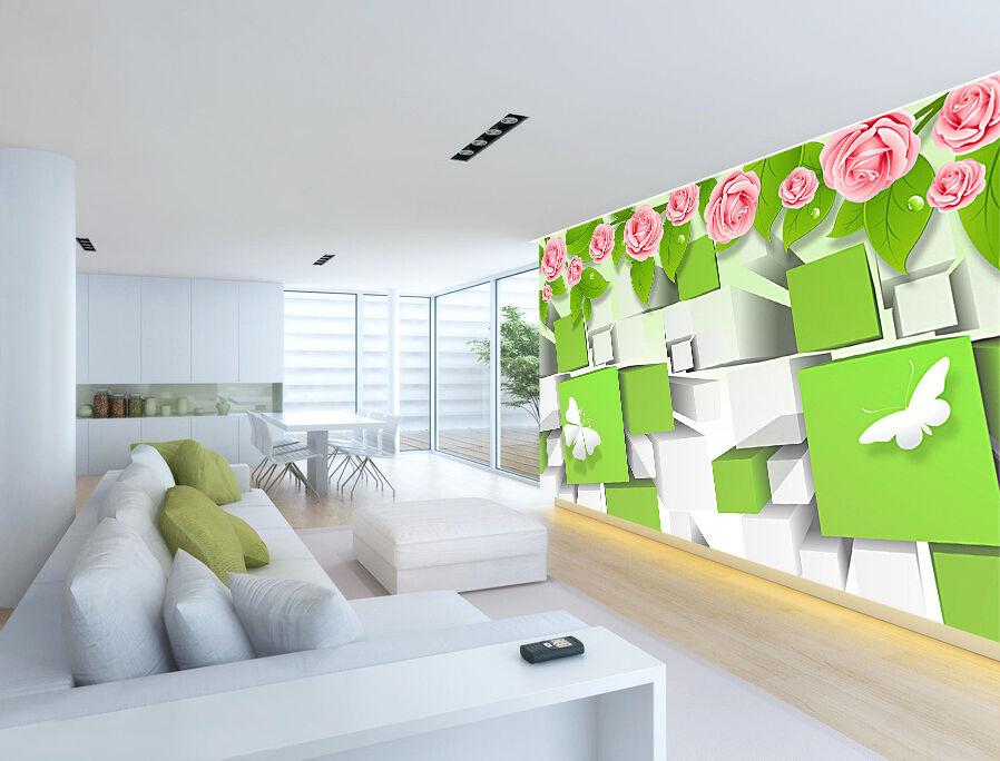 3D Simple Rosa Flower Plants 55 Wall Paper Wall Wall Wall Print Decal Wall AJ WALLPAPER CA 132956