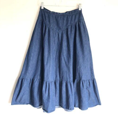 Jessica's Gunnies Vintage Denim Flare Skirt Sz S