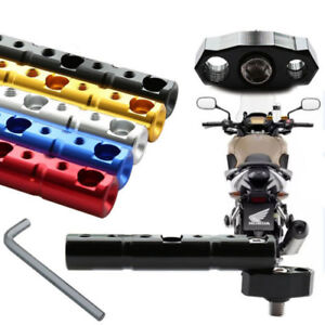 CNC-Multihole-Motorcycle-Handlebar-Rearview-Mount-Space-Extender-Support-Bracket