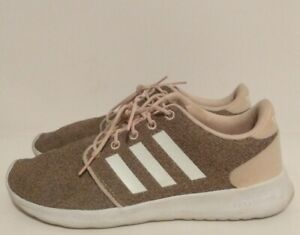 Details about Adidas Neo Cloudfoam QT Racer AH2546 Running Shoes Womens Size 9.5 Ice Pink Gray
