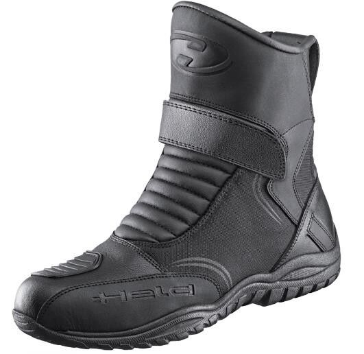 Motorcycle short Boots Andamos Held Size 44 Black Leather Weatherproof Membrane
