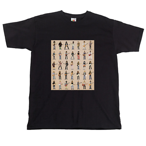 Jailhouse Rock Music Legends Mugshots Men Women Unisex T-shirt Vest Top 3880