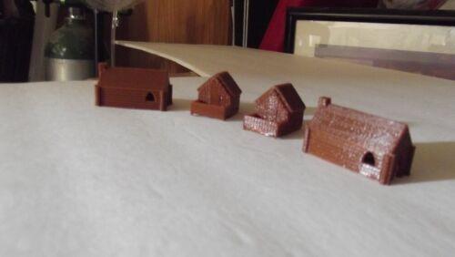 HO Scale Log Cabins  3D printed