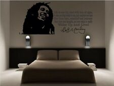 bob marley Wall Art Picture And Quote Matt Black Vinyl Decal Decoration Sticker