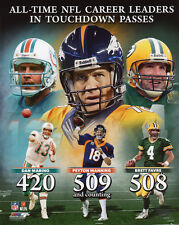 TD Record Denver Broncos PEYTON MANNING Glossy 8x10 Photo Football Print Poster