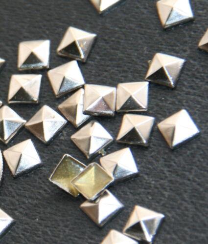 100pc Flat Back Pyramid Studs  Hotfix Iron On Glue On  FlatBack 5mm 7mm 8mm 10mm